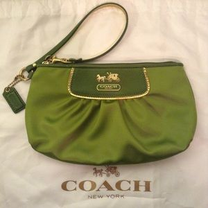COACH - new lime green wristlet